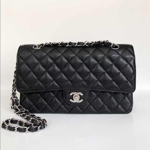 CHANEL Handbags - ❌SOLD❌Chanel Classic M/L Caviar Flap Bag w/ SHW